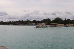 墨西哥肋前缘玛雅人海景 库存图片