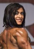 墨西哥肌肉风骚女子显示强有力的体质 库存照片