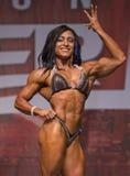 墨西哥肌肉风骚女子显示强有力的体质 免版税库存照片