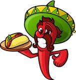 墨西哥胡椒用炸玉米饼 免版税库存图片