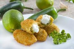 墨西哥胡椒poppers 免版税库存照片