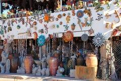 墨西哥艺术品商店在Puerto Penasco,墨西哥关闭了 库存图片
