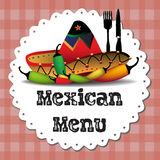 墨西哥菜单 免版税库存照片
