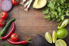 墨西哥菜木头背景 图库摄影