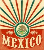 墨西哥葡萄酒爱国海报 图库摄影
