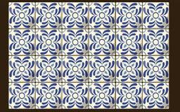 墨西哥蓝色瓦片 库存图片