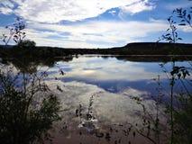 墨西哥蓝色风景在午间 免版税图库摄影