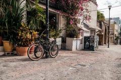 墨西哥街道在海滨del卡门 免版税库存照片