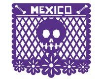 墨西哥装饰报纸 免版税图库摄影