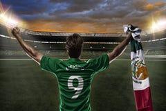 墨西哥足球运动员 免版税库存照片