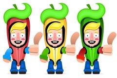 墨西哥辣椒传染媒介 被设置的颜色辣椒 向量例证