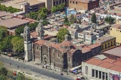 墨西哥都市风景鸟瞰图  免版税库存图片