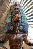 墨西哥阿兹台克战士 免版税图库摄影
