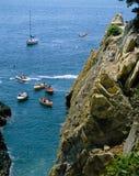 墨西哥阿卡普尔科峭壁潜水者 免版税库存图片