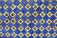 墨西哥陶瓷马赛克墙壁-瓦片背景 免版税图库摄影