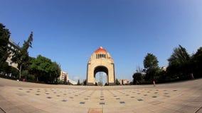 墨西哥革命纪念碑 (被射击的FISHEYE-FULL) 股票视频