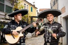 墨西哥音乐家墨西哥流浪乐队 免版税库存图片