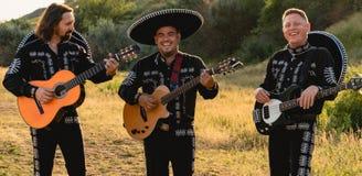 墨西哥音乐家墨西哥流浪乐队 免版税图库摄影