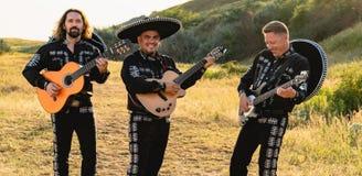 墨西哥音乐家墨西哥流浪乐队 免版税库存照片