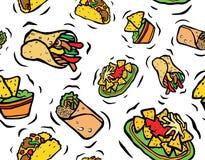 墨西哥食物无缝的样式 向量例证