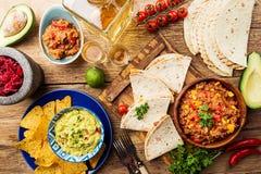 墨西哥食物混合 免版税库存图片