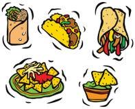 墨西哥食物集合 库存例证