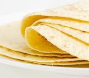 墨西哥食物-玉米粉薄烙饼。选择聚焦 免版税库存照片