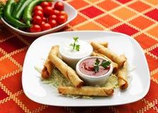 墨西哥食物- Taquitos棍子 库存照片
