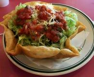 墨西哥食物Resturaunt用餐 免版税库存照片