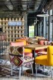 墨西哥餐馆的内部 免版税库存照片