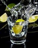 墨西哥龙舌兰酒飞溅 图库摄影