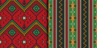 墨西哥,印地安,阿兹台克,几何无缝的样式 免版税库存图片