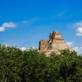 墨西哥,帕伦克,玛雅金字塔, 免版税库存照片