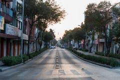墨西哥- 2017年10月19日:墨西哥与交通的早晨都市风景 库存图片