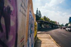 墨西哥- 9月19 :在街道上的繁忙运输在地震以后的几小时发生了 图库摄影