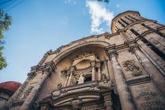墨西哥- 9月19 :地震损坏的教会 库存照片
