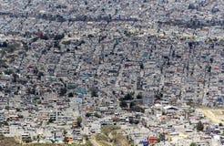 墨西哥贫民窟鸟瞰图  库存照片