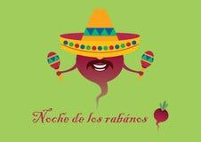墨西哥宴餐- Noche de los rabanos 免版税库存图片