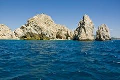 墨西哥- Cabo圣卢卡斯-岩石和海滩 库存图片