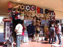 墨西哥 teotihuacan的金字塔 纪念品市场  库存图片