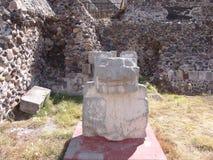 墨西哥 teotihuacan的金字塔 详细资料 免版税库存照片