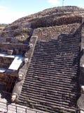 墨西哥 teotihuacan的金字塔 详细资料 图库摄影