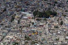 墨西哥favela鸟瞰图  库存图片