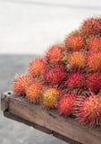 墨西哥lychee在市场上 库存照片