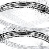 墨水弄脏轮胎轨道 免版税库存照片