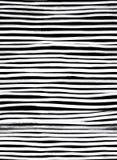 墨水无缝的线样式 与刷子冲程的抽象印刷品 Mo 免版税库存照片