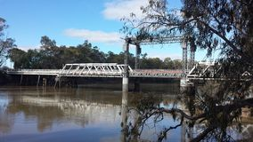 墨累河桥梁 库存图片