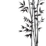 墨水油漆竹子 皇族释放例证