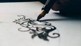 墨水艺术 免版税库存照片