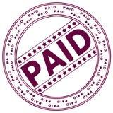 墨水被支付的印花税 免版税库存照片